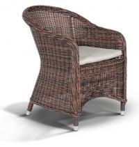 Кресло темно-коричневого цвета с темно-серыми подушками Равенна