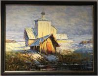 Картина Старая церковь 60*70, холст масло Владимир Маркин