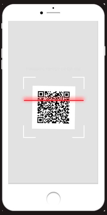 Просканируйте QR-код используя мобильное приложение вашего Банка.